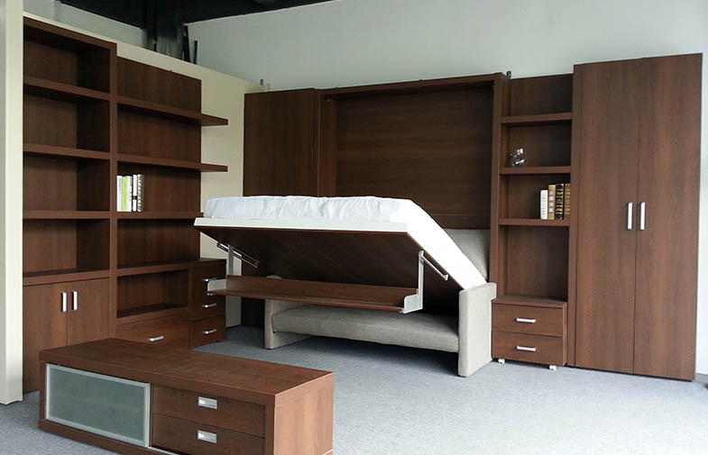 modern_double_folding_wall_bed_with_bookshelf_and_sofa_hidden_strong_style_color_b82220_mechanism_strong